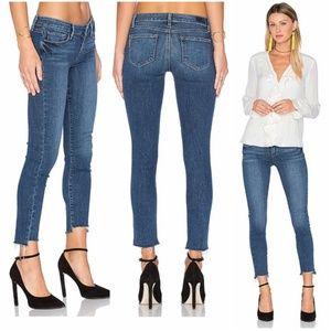 PAIGE Verdugo Ankle Uneven Hem Jeans in Lane